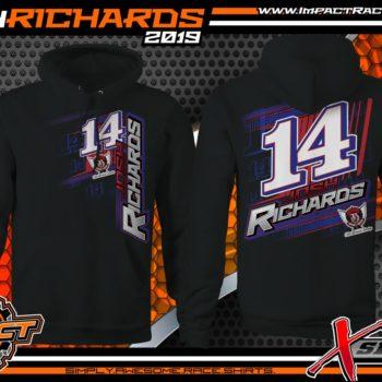Josh-Richards-Lucas-Oil-Dirt-Late-Model-Clint-Bowyer-Racing-Black-Hooded-Sweatshirt-Crew