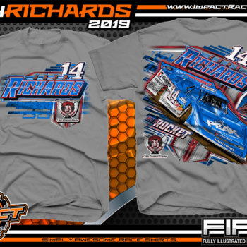 Josh-Richards-Lucas-Oil-Dirt-Late-Model-Clint-Bowyer-Racing-Gravel-Cotton-T-Shirt