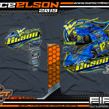 Lance-Elson-Ridge-Runner-Dirt-Late-Model-Racing-T-Shirts-Modified-Tees-West-Virginia-Blue-Dusk