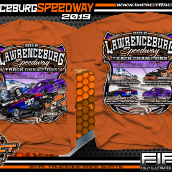 Lawrenceburg-Speedway-Track-Shirts-Dirt-Late-Model-Racing-T-Shirts-Texas-Orange