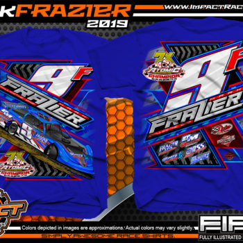 Mark-Frazier-Dirt-Late-Model-Racing-T-Shirts-Lucas-Oil-Dirt-Late-Model-Series-Race-Shirts-Atomic-Speedway-Royal