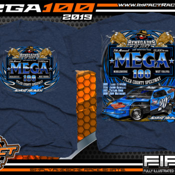 Mega-100-Renengades-of-Dirt-Event-T-Shirts-Dirt-Track-Racing-Shirts-Tyler-County-Speedway-Almost-Heaven-West-Virginia-Racing-T-Shirts-Navy