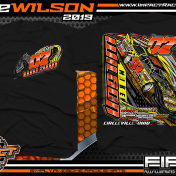 Mike-Wilson-Lucas-Oil-Dirt-Late-Model-Racing-T-Shirts
