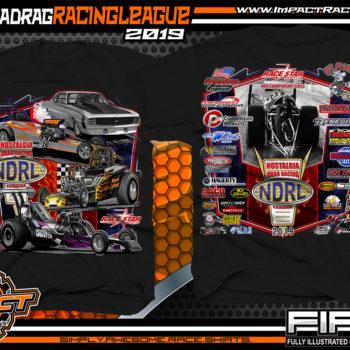 Nostalgia-Drag-Racing-League-T-Shirts-NDRL-Championship-Series-T-Shirts-Black