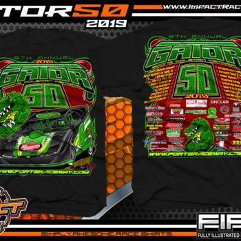 Portsmouth-Raceway-Park-Gator-50-Racetrack-Event-TShirts-Black