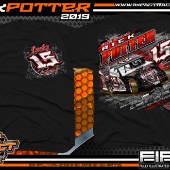Rick-Potter-Lucky-15-Racing-T-Shirts-Modified-Race-Car-Tees-Pennsylvania-Black