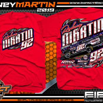 Rodney-Martin-Rocketman-Dirt-Late-Model-Racing-T-Shirts-Georgia-Red