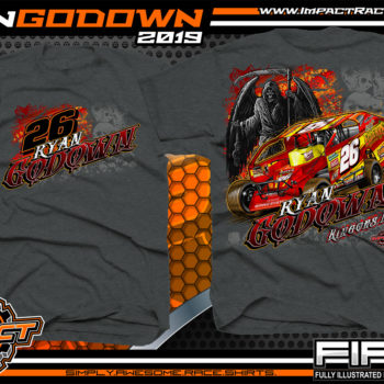 Ryan-Godown-Dirt-Racing-T-Shirts-Modified-Racer-Shirts-New-Jersey-USMTS-Dark-Heather