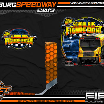 School-Bus-Figure-Eight-Galesburg-Speedway-Race-T-Shirts-Michigan-Racetrack-Event-Shirts-Black