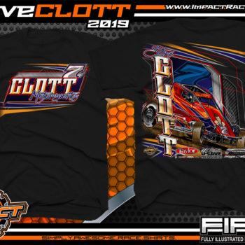 Steve-Clott-Non-winged-Sprint-Car-Racing-T-Shirts-Clott-Motorsports-Shirts-Black