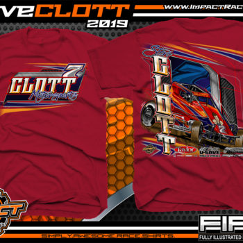 Steve-Clott-Non-winged-Sprint-Car-Racing-T-Shirts-Clott-Motorsports-Shirts-Cardinal
