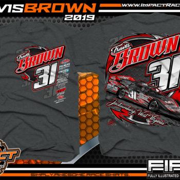 Travis-Brown-Race-TShirts-Lucas-Oil-Dirt-Late-Model-Racing-Series-West-Virginia-Dark-Heather
