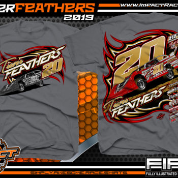 Trever-Feathers-BWRC-Icon-Dirt-Late-Model-Racing-Shirts-World-of-Outlaws-Late-Model-Virginia-Charcoal