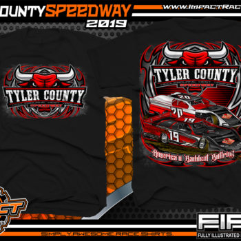 Tyler-County-Speedway-Dirt-Racing-Gear-Track-TShirts-Americas-Baddest-Bullring-Race-Track-Apparel-Black