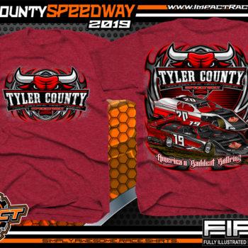 Tyler-County-Speedway-Dirt-Racing-Gear-Track-TShirts-Americas-Baddest-Bullring-Race-Track-Apparel-Cardinal