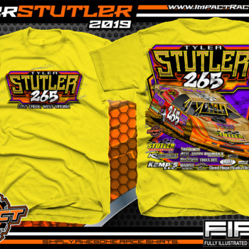 Tyler-Stutler-265-Dirt-Late-Model-Racing-T-Shirts-West-Virginia-Yellow