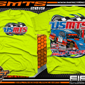 United-States-Modifed-Touring-Series-Racing-Tshirts-Dirt-Racing-Shirts-USMTS-Rolling-Thunder