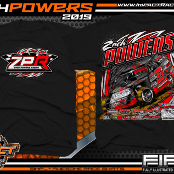 Zach-Powers-Modified-Racecar-T-Shirts-Kentucky-Dirt-Racing-Tees-Black