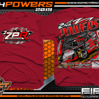 Zach-Powers-Modified-Racecar-T-Shirts-Kentucky-Dirt-Racing-Tees-Cardinal-Red