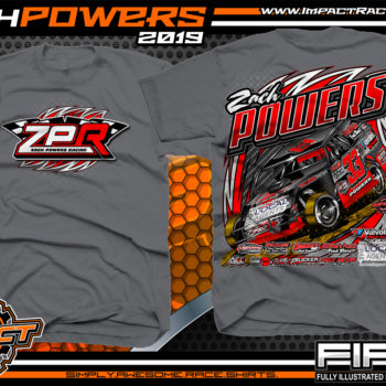 Zach-Powers-Modified-Racecar-T-Shirts-Kentucky-Dirt-Racing-Tees-Charcoal