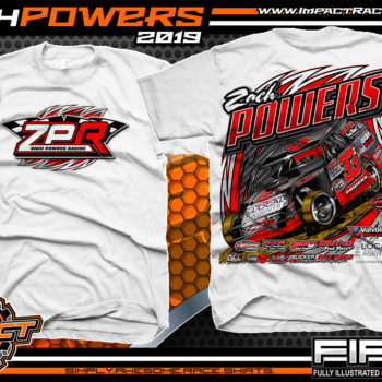 Zach-Powers-Modified-Racecar-T-Shirts-Kentucky-Dirt-Racing-Tees-White