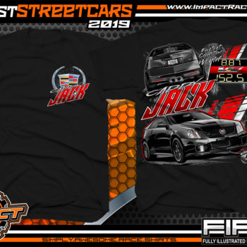 Caddy Jack Midwest Street Cars Big Chief Oklahoma Worlds Fastest Cadillac OKC 405 Street Drag Racing Shirts No Prep Kings Black