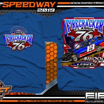 Firecracker Classic Event Tees Legit Speedway Missouri Dirt Racing T-Shirts For Tracks Royal