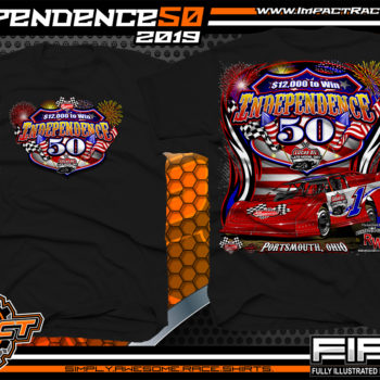 Independence 50 Portsmouth Raceway Park Lucas Oil Dirt Late Model Racing Series Event Shirt Black