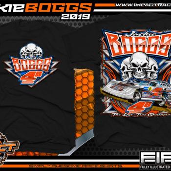 Jackie Boggs Lucas Oil Dirt Late Model Racing Series Kentucky Dirt Track Racing T-Shirt Black