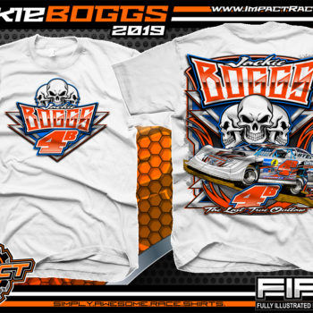 Jackie Boggs Lucas Oil Dirt Late Model Racing Series Kentucky Dirt Track Racing T-Shirt White