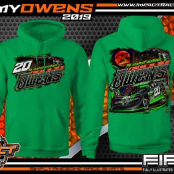 Jimmy Owens Lucas Oil Late Model Dirt Series Rocket Chassis Newport Nightmare Tennessee Dirt Late Model Racing T-Shirts Hoodie