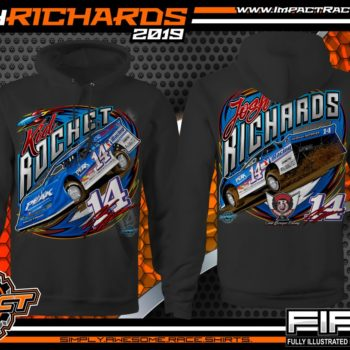 Josh Richards Lucas Oil Dirt late Model Series Clint Bowyer Racing Kid Rocket Chassis West Virginia Black Hoodie