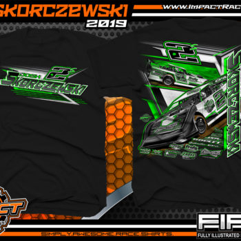 Josh Skorczewski Black Racing Shirt Dirt Late Model Tee Lucas Oil World of Outlaws