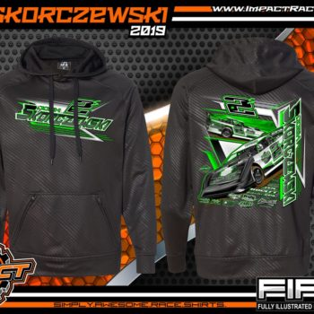 Josh Skorczewski Black Volt Racing Hoodie Dirt Late Model Sweatshirt Lucas Oil World of Outlaws