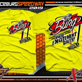 Lawrenceburg Speedway Track Shirts Indiana Dirt Racing T-Shirts X Series Yellow