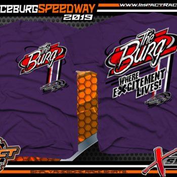 Lawrenceburg Speedway Track Shirts Indiana Dirt Racing T-Shirts XSeries Purple