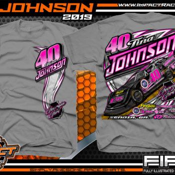 Tina Johnson Georgia Girl Dirt Late Racing T-Shirts Lucas Oil Dirt Late Model Racing Series Shirts Gravel